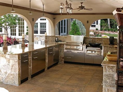 outside kitchen design ideas awesome outdoor kitchen designs and ideas quiet corner