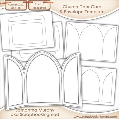 door template card church door card envelope template commercial use 163 3