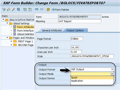 format html php output sap smart forms output types