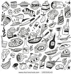 doodle foods 1000 images about icons on pictogram vector