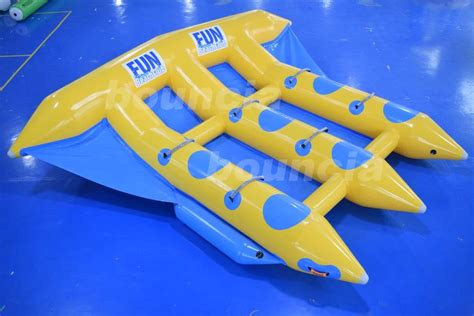 flying boat towables 3 tubes flying towables inflatable flying fish banana