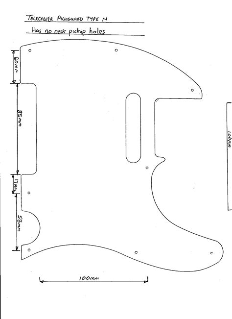 guitar templates telecaster norwegian wood