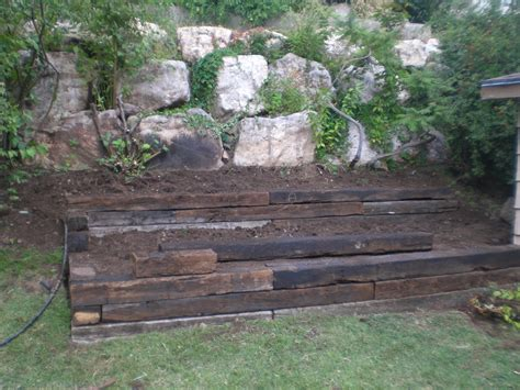 landscaping railroad ties home depot landscape ideas