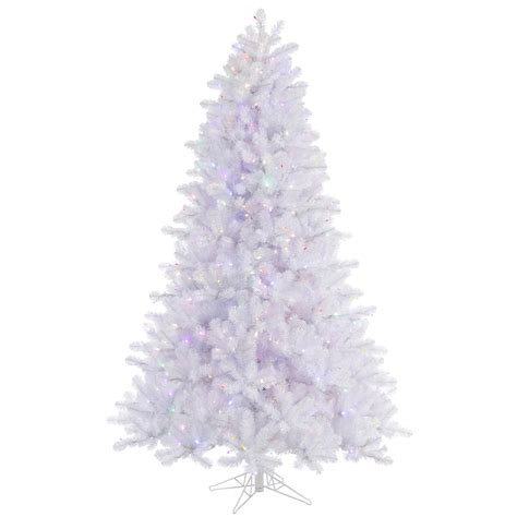 12 crystal white pine christmas tree pre lighted led