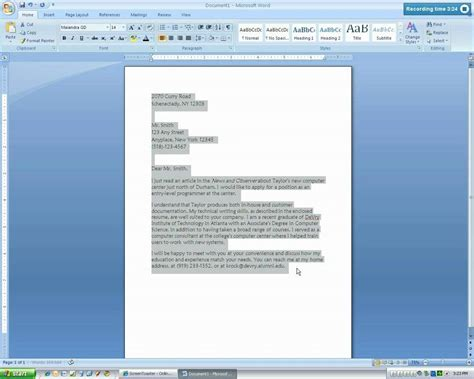 Business Letter Format Microsoft Word 2010 Microsoft Word 2007 Business Letter Tutorial Mp4