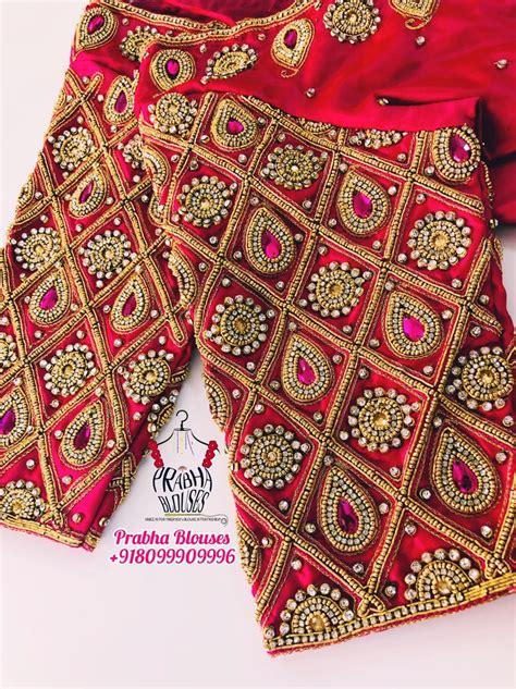 pin  prabha blouses  prabha blouses embroidered