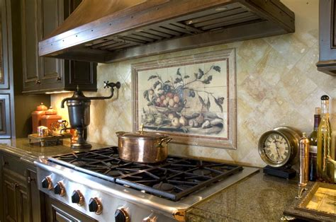 kitchen tile murals tile art backsplashes kitchen beautiful kitchen design ideas with wine mural