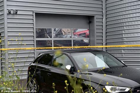 audi dealership inside 20 cars fall through milton keynes audi dealership