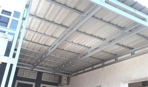 membuat rumah tingkat dengan baja ringan kanopi baja ringan atap spandek canopyrumah com jasa