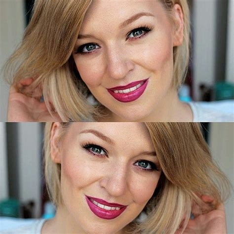 blonde hair purple lipstick too faced jelly melted metal liquified lipstick bare