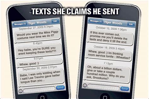 Top 10 Of Sexting by Revealed Tiger Woods Explosive Sext Messages The