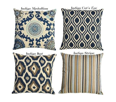26x26 Pillow Covers by Indigo Ikat Blue And Gray On Linen Sham Pillow Cover 24x24 26x26