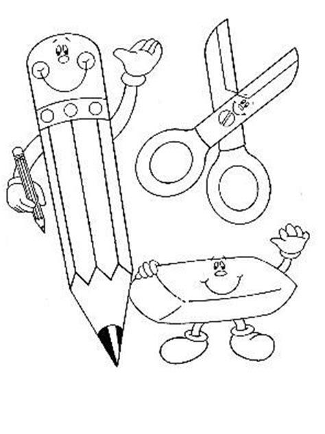 imagenes de utiles escolares en caricatura para colorear utiles escolares dibujos para colorear de clase