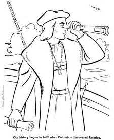 christopher columbus coloring pages american history christopher columbus 001