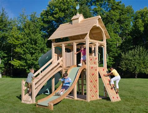 backyard swing sets canada cedarworks eco friendly outdoor playsets fit every space