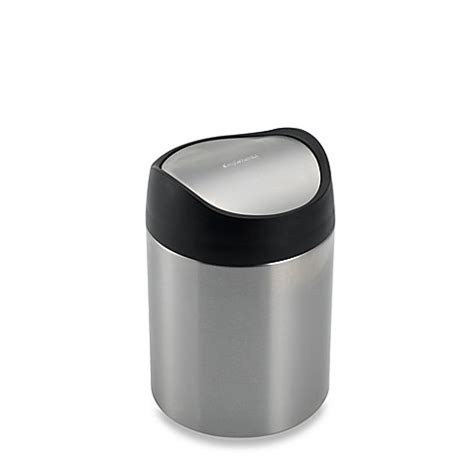 simplehuman bathroom trash can simplehuman 174 brushed stainless steel fingerprint proof 1 1