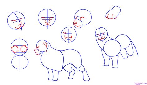 tutorial drawing online how to draw lions step by step safari animals animals