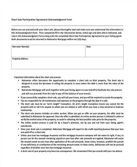 participation agreement template 31 free sales agreement forms