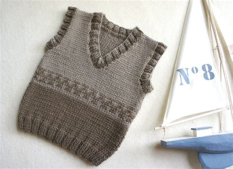knitting pattern for boys vest knit baby vest wool baby tank knitted brown ves boys