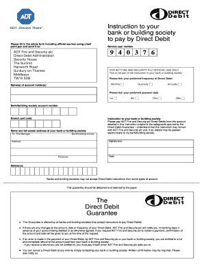 direct debit form direct debit form template fillable printable sles