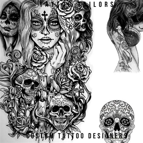 established tattoos designs sugar skull design idea created by