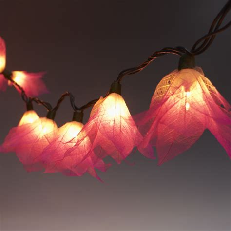 9ft Tropical Flower Lights 110v Ac String Lights Pink White Flower Lights