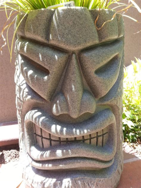 Tiki Planter angry tiki planter the green