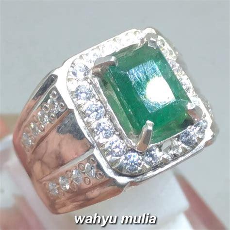 Zamrud Emerald Beryl 2 5ct cincin batu zamrud hijau emerald beryl kotak asli kode