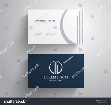rental business card template business card template real estate apartment stock vector