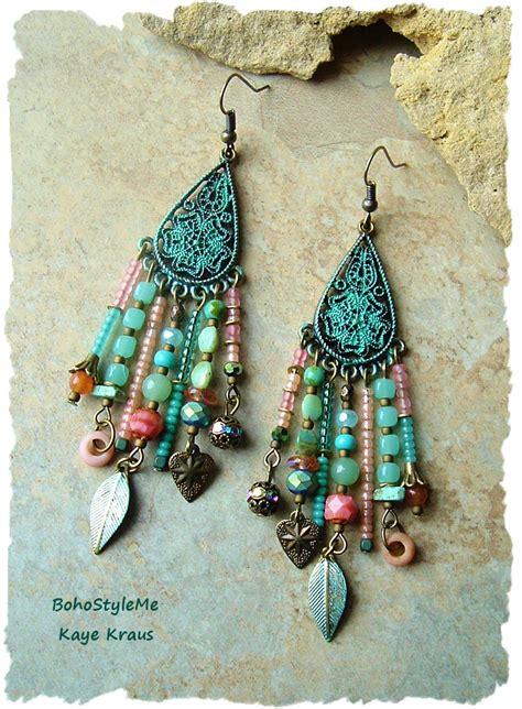 bohemian suncatcher artsy mix of eclectic custom by boho gypsy assemblage earrings colorful bohemian jewelry