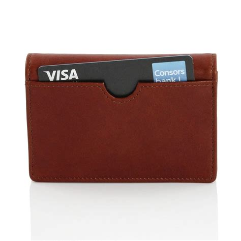 Leather Business Card Holder Womens