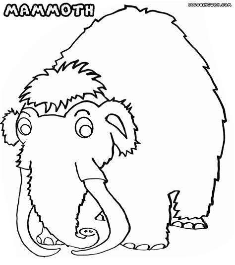 wooly mammoth coloring page qlyview com