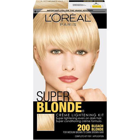 best box hair bleach blonde l oreal 200 bleach blonde creme lightening kit 1 kt box
