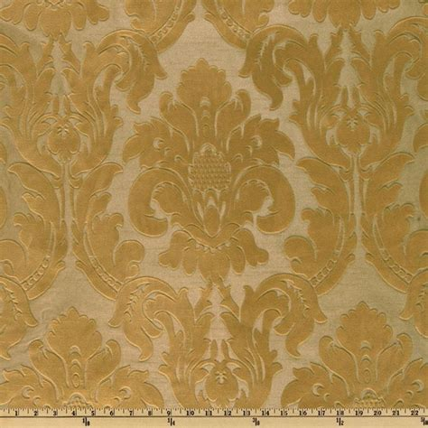 discount home decor fabric dior flocked damask gold discount designer fabric