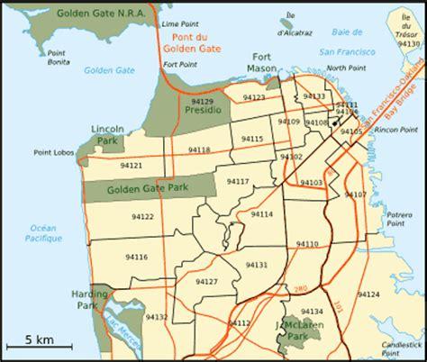 us area code san francisco sf map zip codes mapsof net