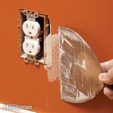 how to fix an oversize electrical box cutout family handyman