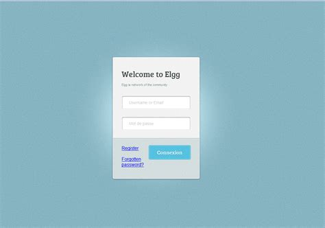 login modern homepage for elgg elgg org