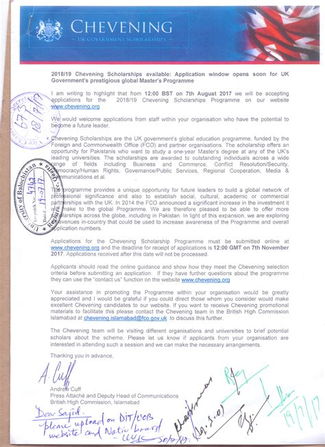 Reference Letter Template For Chevening Scholarship reference letter for chevening scholarship cover letter
