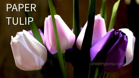 paper flower tutorial tulips free template and tutorial how to make paper tulip