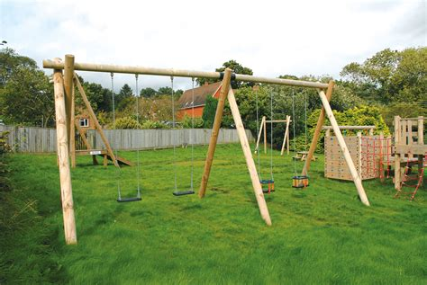 bay swing double bay swing traditional playground equipment