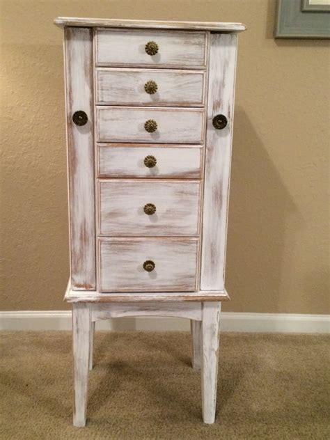 distressed jewelry armoire large shabby distressed jewelry armoire cottage chic painted