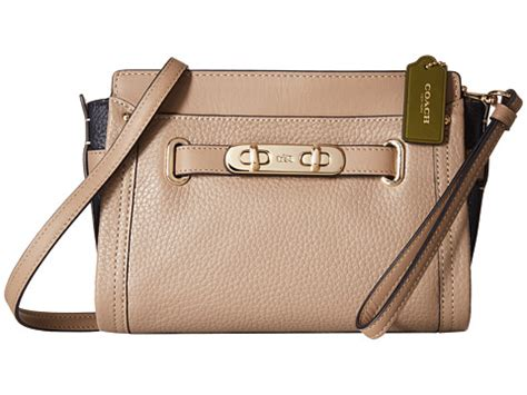 C O A C H Swagger Hardware Millenium Set 2in1 coach color block pebbled leather coach swagger wristlet