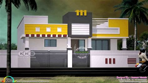 house front elevation designs  single floor  india