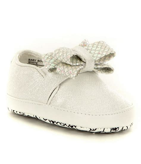 baby michael kors shoes michael michael kors 180 baby bow crib shoes dillards