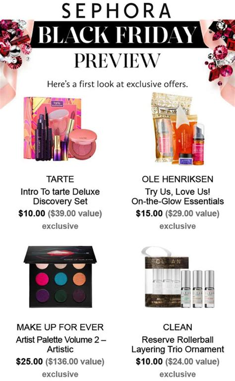 8 Great Deals At Sephoras Shop by Sephora Black Friday 2017 Ad Deals Sales