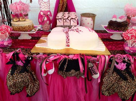 Pink cheetah baby shower party ideas photo 1 of 16 catch my party