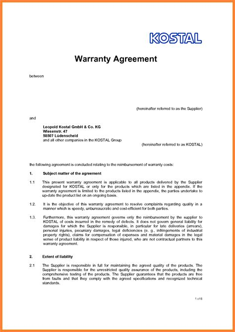 Sle Of Letter Of Agreement Between Two 10 Letter Of Agreement Template Between Two