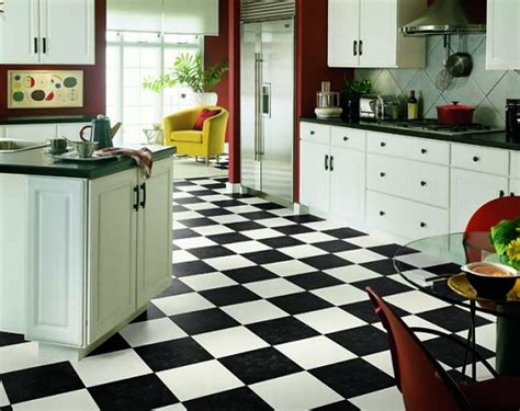 Black And White Kitchen Floor Ideas by Decoration Tips Related With Black And White Vinyl