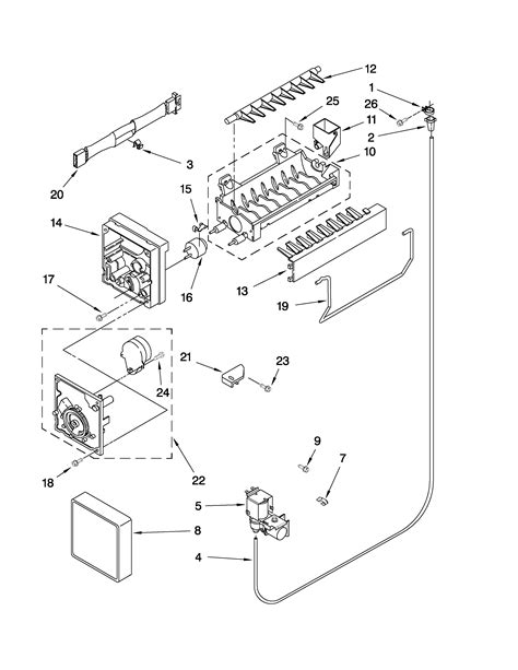 maytag refrigerator parts diagram icemaker parts diagram parts list for model m0rxemmww01