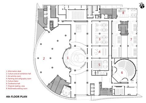 cultural center floor plan gallery of baiyunting culture and art center dushe